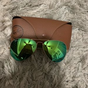 Rayban Green Mirrored *Larger Frame* Sunglasses